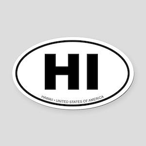 Hawaii Oval Car Magnet