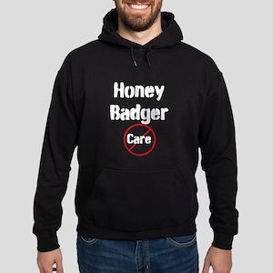 Honey Badger Cares Hoodie (dark)