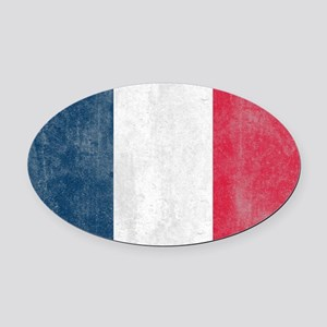 Vintage French Flag Oval Car Magnet