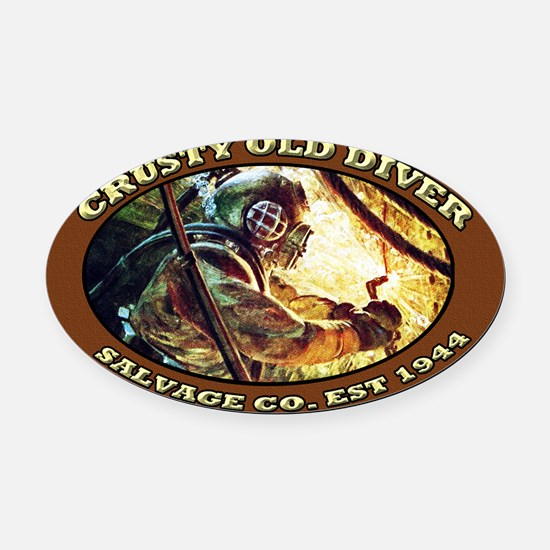 Cute Navy diver Oval Car Magnet
