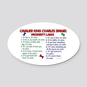Cavalier King Charles Property Laws 2 Oval Car Mag