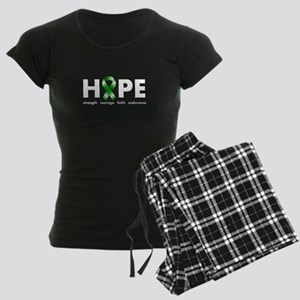 Green Ribbon Hope Women's Dark Pajamas