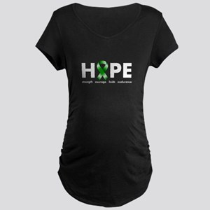 Green Ribbon Hope Maternity Dark T-Shirt