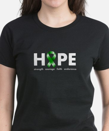 Green Ribbon Hope Women's Dark T-Shirt