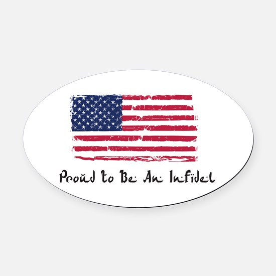 Cool American infidel Oval Car Magnet