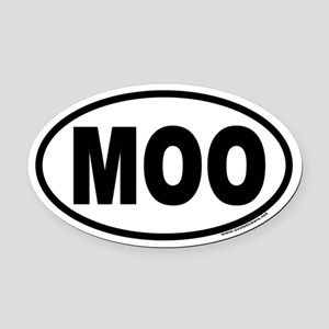 MOO Euro Style Oval Car Magnet for Cow Lovers!