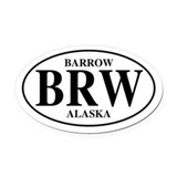Barrow alaska Oval Car Magnets