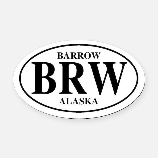 Barrow Oval Car Magnet