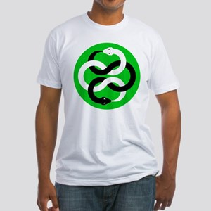 Double Oroborous (Green) Fitted T-Shirt