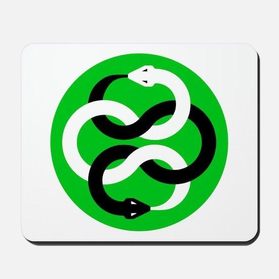 Double Oroborous (Green) Mousepad