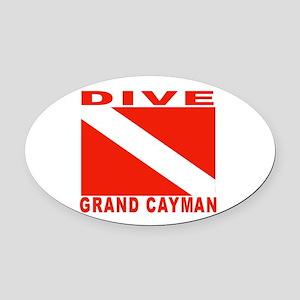 Dive Grand Cayman Oval Car Magnet