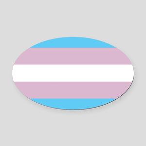 Transgender Pride Flag Oval Car Magnet