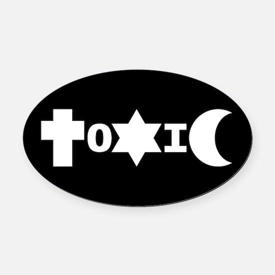 ToXiC Faith Logo Oval Car Magnet