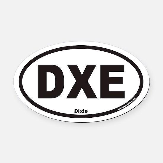 Dixie DXE Euro Oval Car Magnet