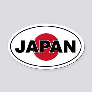 Japanese Flag Oval Car Magnet