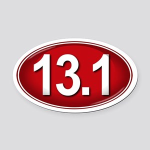 13.1 RED Marathon Oval Car Magnet