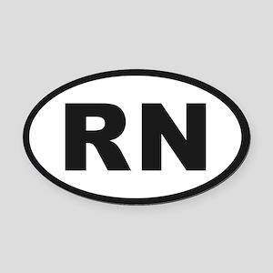RN Oval Car Magnet
