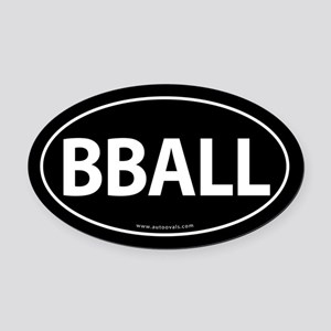 BBALL Traditional Auto Oval Car Magnet -Black (Ova