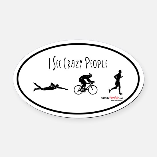 It's Business Time Oval Car Magnet