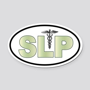 SLP Neutrals Oval Car Magnet