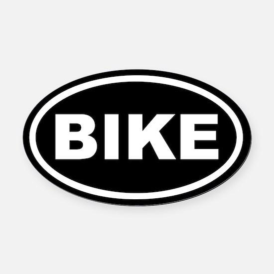 Bike Euro Oval Car Magnet