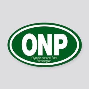 Olympic National Park Oval Car Magnet