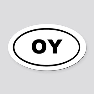 OY Euro Oval T-shirts Oval Car Magnet