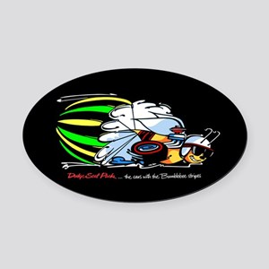 Scat Pack - Cars with Bumble Oval Car Magnet