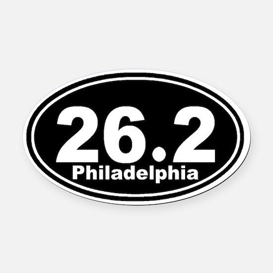 26.2 Philadelphia Marathon st Oval Car Magnet