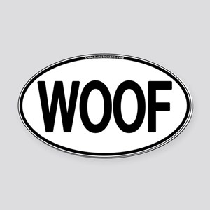 WOOF Oval Oval Car Magnet