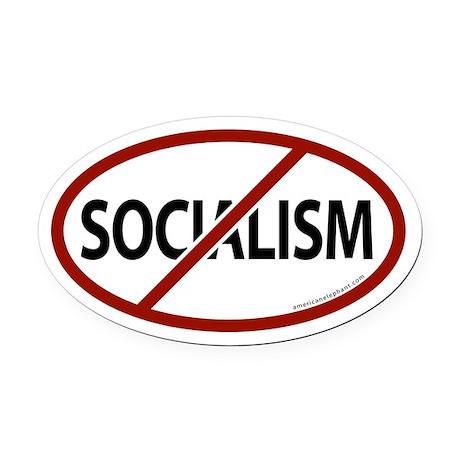 No Socialism Oval Car Magnet