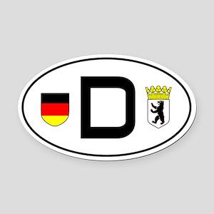Germany car Oval Car MagnetBerlin variant)