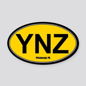 YNZ Oval Car Magnet - Gold