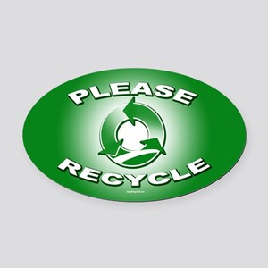 Please Recycle Oval Car Magnet