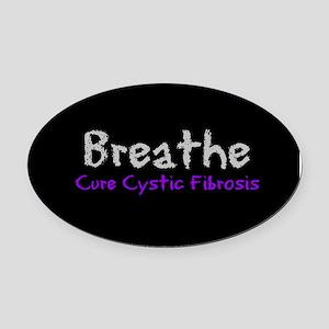 Breathe (Cure CF) Oval Car Magnet