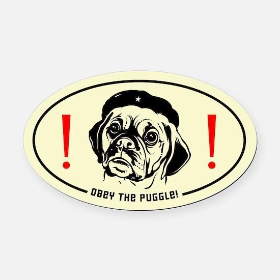 Obey the Puggle! Revolution Oval Car Magnet