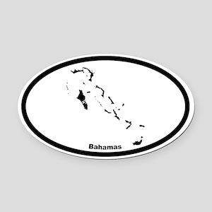 Bahamas Outline Oval Car Magnet