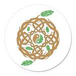 Celtic Nature Yin Yang Round Car Magnet