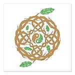 Celtic Nature Yin Yang Square Car Magnet 3