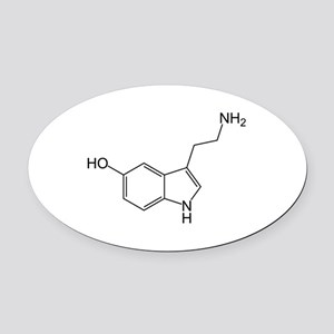 Serotonin Oval Car Magnet