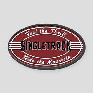 Feel the Thrill Oval Car Magnet