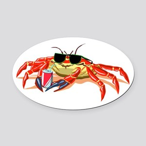 Cool Cancer Crab Oval Car Magnet