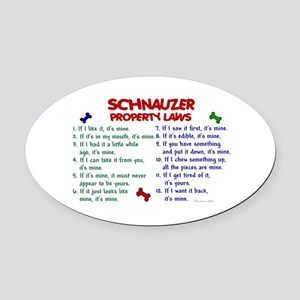 Schnauzer Property Laws 2 Oval Car Magnet