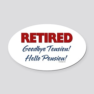 Retired: Goodbye Tension Hell Oval Car Magnet