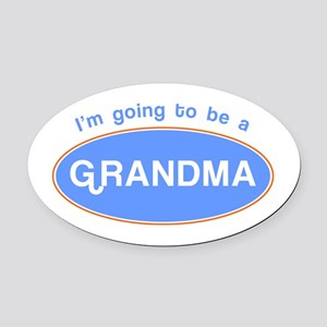 I'm going to be a Grandma! Oval Car Magnet