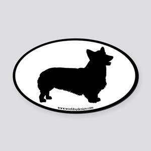 Welsh Corgi Oval (black border) Oval Car Magnet