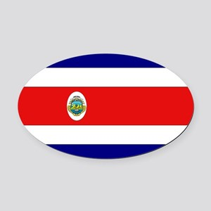 Costa Rican Flag Oval Car Magnet