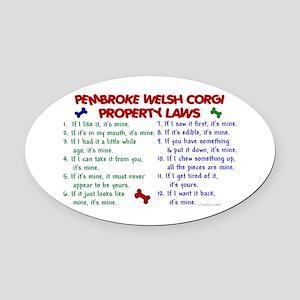 Pembroke Welsh Corgi Property Laws 2 Oval Car Magn