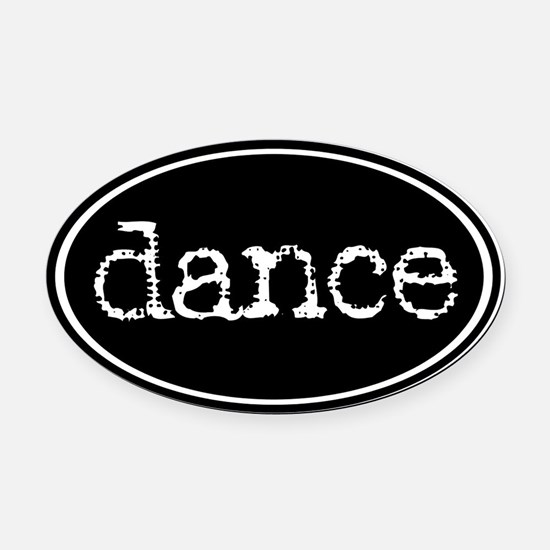 Dance Oval Car Magnet