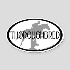 Hunter Jumper O/F (Thoro... text) Oval Car Magnet